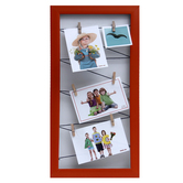 Tayhaa Rustic Red Vertical Collage Photo Frame (4 Photos)