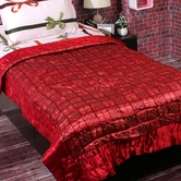 Craftsvilla Smart Contemporary Print Red Shade Single Bed Silk Quilt