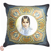 Craftsvilla Royal Princess Digital Print Poly Velvet Cushion Covers