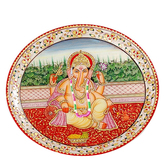 Craftsvilla Marvel In Marble - Hand Painted Lord Ganesh-018