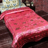 Charming Pink Shade Silky Shine Single Bed Quilt