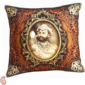 Craftsvilla Multicolor Digital Print Poly Velvet Cushion Covers Of Raja Of Rajastani