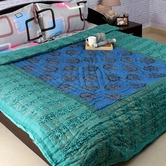 Ligh Blue Shade Beautiful Doublebed Cotton Quilt