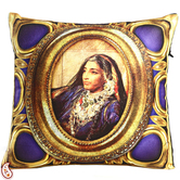 Craftsvilla Queen Of Rajastani Digital Print Poly Velvet Cushion Covers