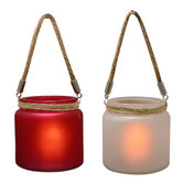 Craftsvilla Red And White 2 Hanging Bucket Style Tealight Holders