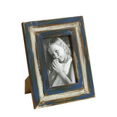 Nostalgic Blue Finish Wooden Photo Frame
