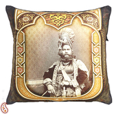 Craftsvilla Poly Velvet Digital Print Cushion Cover With Raja Of Rajastani