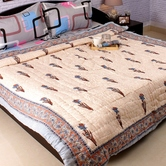 Beautiful Multicolor Shade Double Bed Cotton Quilt