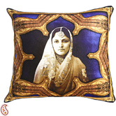 Craftsvilla Rajastani Queen Digital Print Poly Velvet Cushion Covers