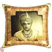 Decorative Cushion Cover With Royal Of Rajastani In Poly Velvet