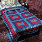 Multicolor Contemporary Print Single Bed Cotton Quilt