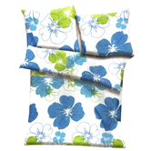 White, Blue & Green Polyester Floral Print Double Bed Ac Quilt