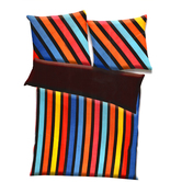 Multicolor Polyester Striped Print Single Bed  Ac Quilt