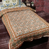 Dashing Multicolor Floral Print Single Bed Cotton Quilt