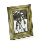 Light Olive Green Rustic Finish Wood Photo Frame