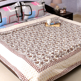 Craftsvilla Pure Cotton Double Duvet Cover With Floral Motifs
