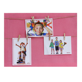 Tayhaa Solid Pink Shade Collage Photo Frame (3 Photos)