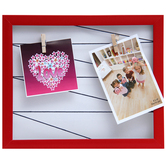 Tayhaa Deep Red Outline Collage Photo Frame (2 Photos)