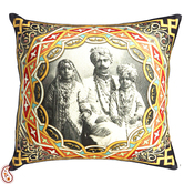 Craftsvilla Royal Family Digital Print Poly Velvet Cushion Cover