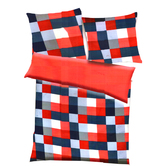 Red, Blue & White Polyester Checkered Print Single Bed  Ac Quilt