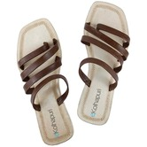 Ekolhapuri Dark Brown Four Laces Flip Flop Kolhapuri Chappal