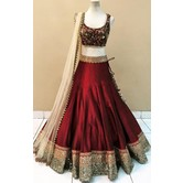 A Beautiful Designer Lehenga With Unstitched Blouse Piece.