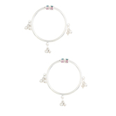 Dilan Jewels Happiness Collection Enamel 925 Sterling Silver Ghunghroo Bangles For Kids