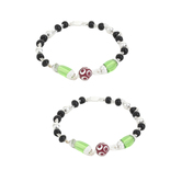 Dilan Jewels Happiness Collection Green And Black Colour Elegant Nazariye Bracelets For Babies