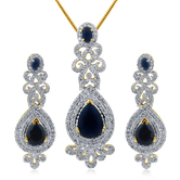 Inaya Gorgeous High Gold Plated Look Fashion American Diamond Pendant