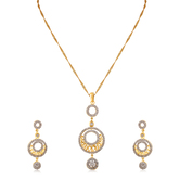 Inaya Best - Selling White And High Gold Look Fashion American Diamond Pendant