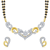 Inaya Gorgeous Brass And High Gold Look Fashion American Diamond Tanmaniya