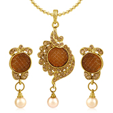 Inaya Lct Stone And Drop Daily Wear Pendant
