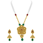 Inaya Best - Selling Multicolor Stone And High Gold Plated Look Fashion Pendant