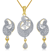 Inaya Best - Selling High Gold Plated Look Fashion American Diamond Pendant Are Simple Yet Stylish Making These Oh - So - Covetable