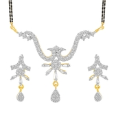 Inaya Drop And Gold Plated Delicate American Diamond Tanmaniya