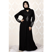 Viva N Diva Black Colored Lycra Abaya.