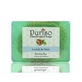 Puriso Handcrafted Soaps -loofah & Mint Bathing Bar-100g