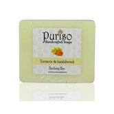 Puriso Handcrafted Soaps -turmeric & Sandalwod Bathing Bar-100g