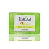 Puriso Handcrafted Soaps - Loofah & Lemongrass Bathing Bar-100g