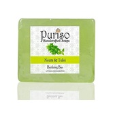 Puriso Handcrafted Soaps -neem & Tulsi Bathing Bar-100g