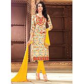 Saara Multicolour Embroidered Glace Cotton Unstitched Dress Material 439d9005