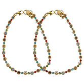 Craftsvilla Multicolor Crystals Pretty Gold Plated Anklets