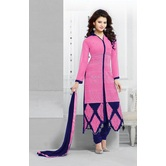 Zelly Creation Georgette Embroidery Semistiched  Dress Material