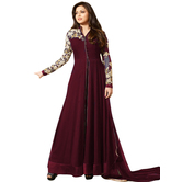 Sitaram Womans Semistitched Georgette Gown With Zari Embroidery Type Dress Material.