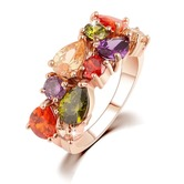 Spotted Rich Swiss Zirconia Beauteous Ring - Rings By Crunchyfashion