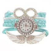 Shreya Collection Blue Leather Charm Watch Bracelet For Girls - 820