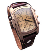 Classic Analog Brown Colour Genuine Leather Strap Watch For Men - 841