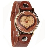 Classic Analog Fashion Brown Leather Bracelet Watch For Women - 840