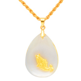 Craftsvilla Crystal Aquarium With Gold Plated Fish Pendant Jewellery For Men And Women