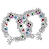 Craftsvilla Silver Plated Toran Design Colourful Handmade Traditional Ethnic Bridal Jewellery Anklet,